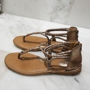 B.O.C Gold Bronze Sedge Braided Sandals